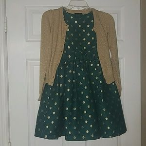 Other - Dark green and gold formal girl's dress, size 8